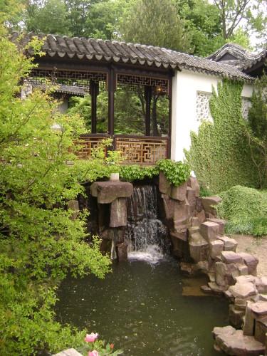 The luxury of water in feng shui garden